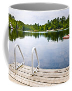 Dock On Calm Lake In Cottage Country Coffee Mug