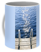 Dock On Summer Lake With Sparkling Water Coffee Mug