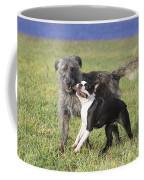 Dogs Playing With Stick Coffee Mug