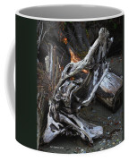 Driftwood On The Beach Coffee Mug