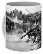 Ducks And Flowers In Lagoon Water Coffee Mug