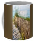 Dune Fence On Beach  Coffee Mug