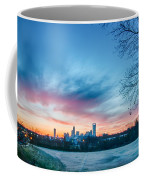 Early Morning Sunrise Over Charlotte City Skyline Downtown Coffee Mug