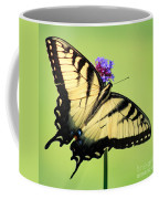 Eastern Tiger Swallowtail Butterfly Square Coffee Mug