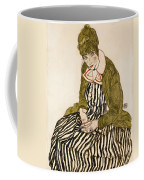 Edith With Striped Dress Sitting Coffee Mug
