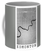 Edmonton Street Map - Edmonton Canada Road Map Art On Colored Ba Coffee Mug
