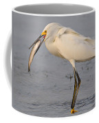 Egret With Fish Coffee Mug