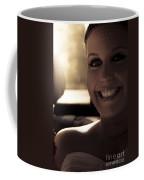Elated Bride Sitting In The Wedding Car  Coffee Mug