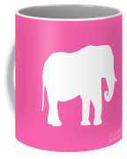 Elephant In Pink And White Coffee Mug
