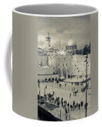 Elevated View Of The Western Wall Coffee Mug