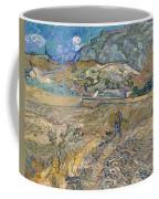Enclosed Wheat Field With Peasant  Coffee Mug