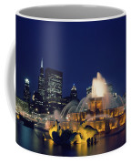 Evening At Buckingham Fountain - Chicago Coffee Mug