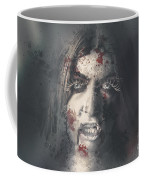 Evil Dead Vampire Woman Looking In Bloody Window Coffee Mug