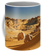 Expressive Landscape With Mountains In Egyptian Desert  Coffee Mug