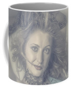 Face Of Beautiful Woman In Makeup Close-up Coffee Mug