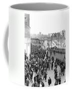 Fans Leaving Yankee Stadium. Coffee Mug