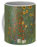 Farm Garden With Sunflowers Coffee Mug
