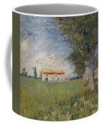 Farmhouse In A Wheat Field Coffee Mug