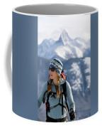 Female Backcountry Skier Skinning Coffee Mug