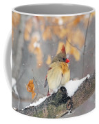 Female Cardinal In Snow Coffee Mug