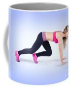 Female Track And Field Athlete Preparing To Run Coffee Mug