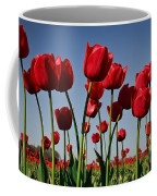 Field Of Red Tulips Coffee Mug