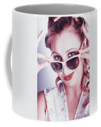 Fifties Glamor Girl Wearing Retro Pin-up Fashion Coffee Mug
