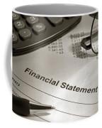 Financial Statement On My Desk Coffee Mug