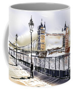 Fine Art Drawing The Tower Bridge In London Uk Coffee Mug