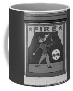 Fire Eater In Black And White Coffee Mug