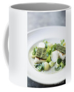 Fish Fillet With Herb Topping And Vegetables Coffee Mug