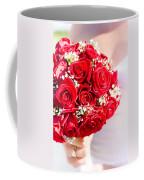 Floral Rose Boquet Held By Bride Coffee Mug