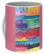 Flower Garden Coffee Mug by Linda Woods