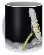 Flower With Snow Coffee Mug