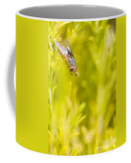 Fly Insect In Amongst A Flurry Of Yellow Leaves Coffee Mug