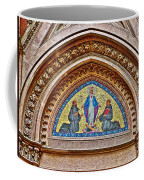 Fresco In Front Of Saint Anthony's Church In Istanbul-turkey  Coffee Mug