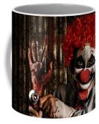 Frightening Clown Doctor Holding Amputated Hand  Coffee Mug