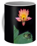 Frog And Waterlily Coffee Mug