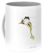 Frog On Waterline Coffee Mug