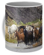 Gaucho With Herd Of Horses Coffee Mug