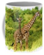 Mom Giraffe And Little Joey Coffee Mug