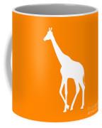 Giraffe In Orange And White Coffee Mug