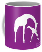 Giraffe In Purple And White Coffee Mug