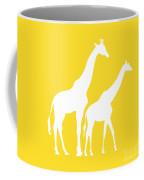 Giraffes In Golden And White Coffee Mug