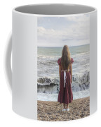 Girl On Beach Coffee Mug