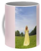 Girl On Meadow Coffee Mug