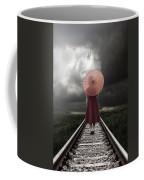Girl On Tracks Coffee Mug