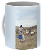 Girl With Sheeps Coffee Mug