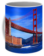 Golden Gate Bridge Panoramic View Coffee Mug