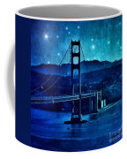 Golden Gate Bridge Night Coffee Mug